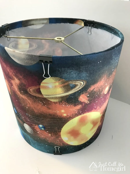 Lampshade with space print by Just Call Me Home Girl