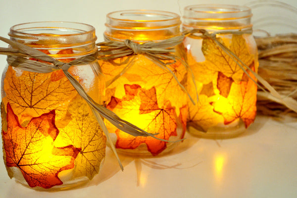 These DIY Projects with Autumn Leaves Will Make You Love this Season - See more at www.ilikethatlamp.com