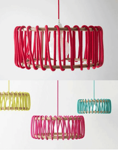 18 Creative Ideas to Use Fabric Wire for DIY Lamps - See the full list at www.ilikethatlamp.com