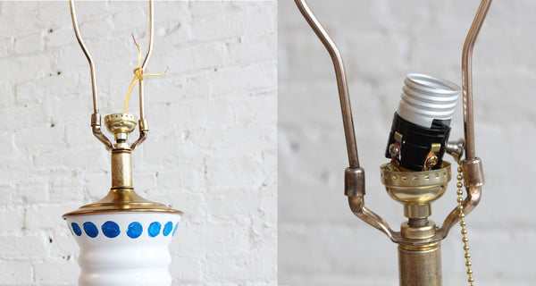 From Old and Boring to New and Pretty: Glass Vase Lamp Makeover Tutorial - Read more at www.ilikethatlamp.com
