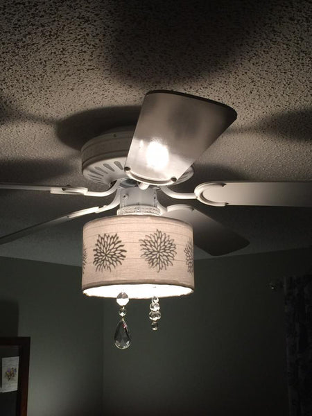 Customer project maureens diy ceiling fan shade i like that lamp customer project diy ceiling fan lampshade crafted with i like that lamp supplies aloadofball Images