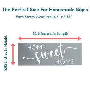"""Home Sweet Home"" + ""Blessed"" Stencils"