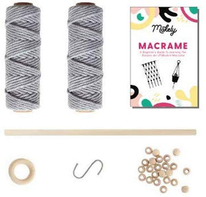 Deluxe Macrame Kit: Make a Plant Hanger + Wall Hanging