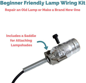 Lamp Wiring Kit [Silver + Black]