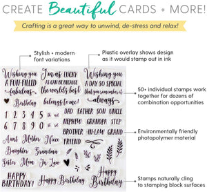 Birthday Sentiment Stamps
