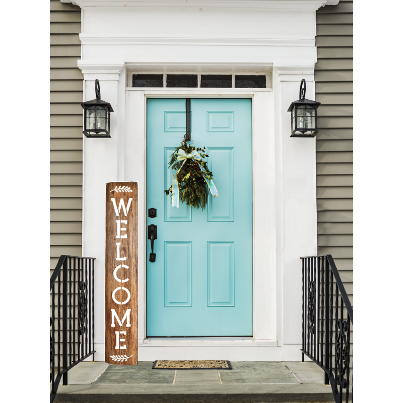 Vertical Welcome Sign Stencils
