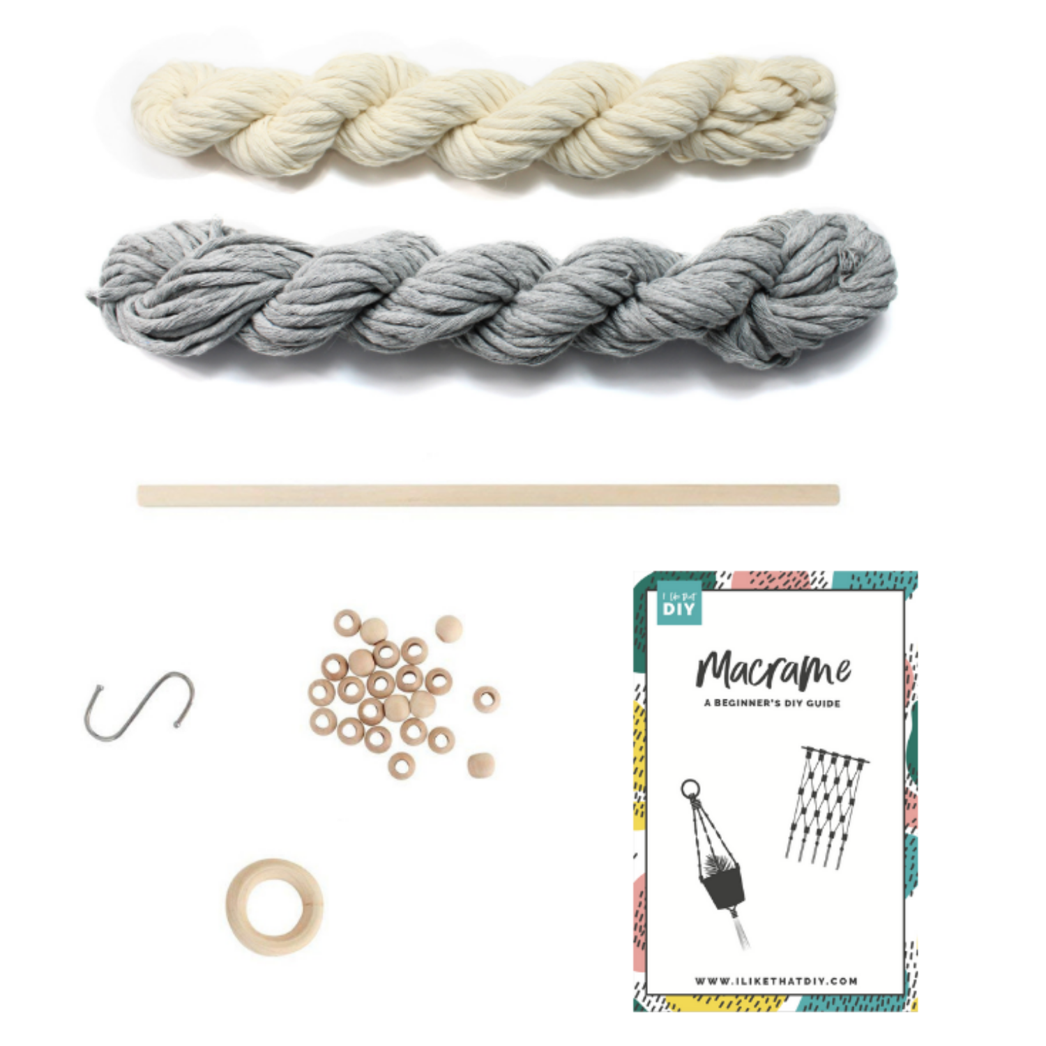 Macrame All In One Kit Make A Plant Hanger Amp Wall Hanging
