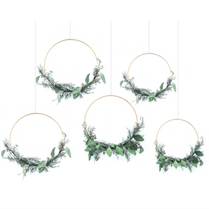Plain Silver Wreath Hoops [5 Pack]