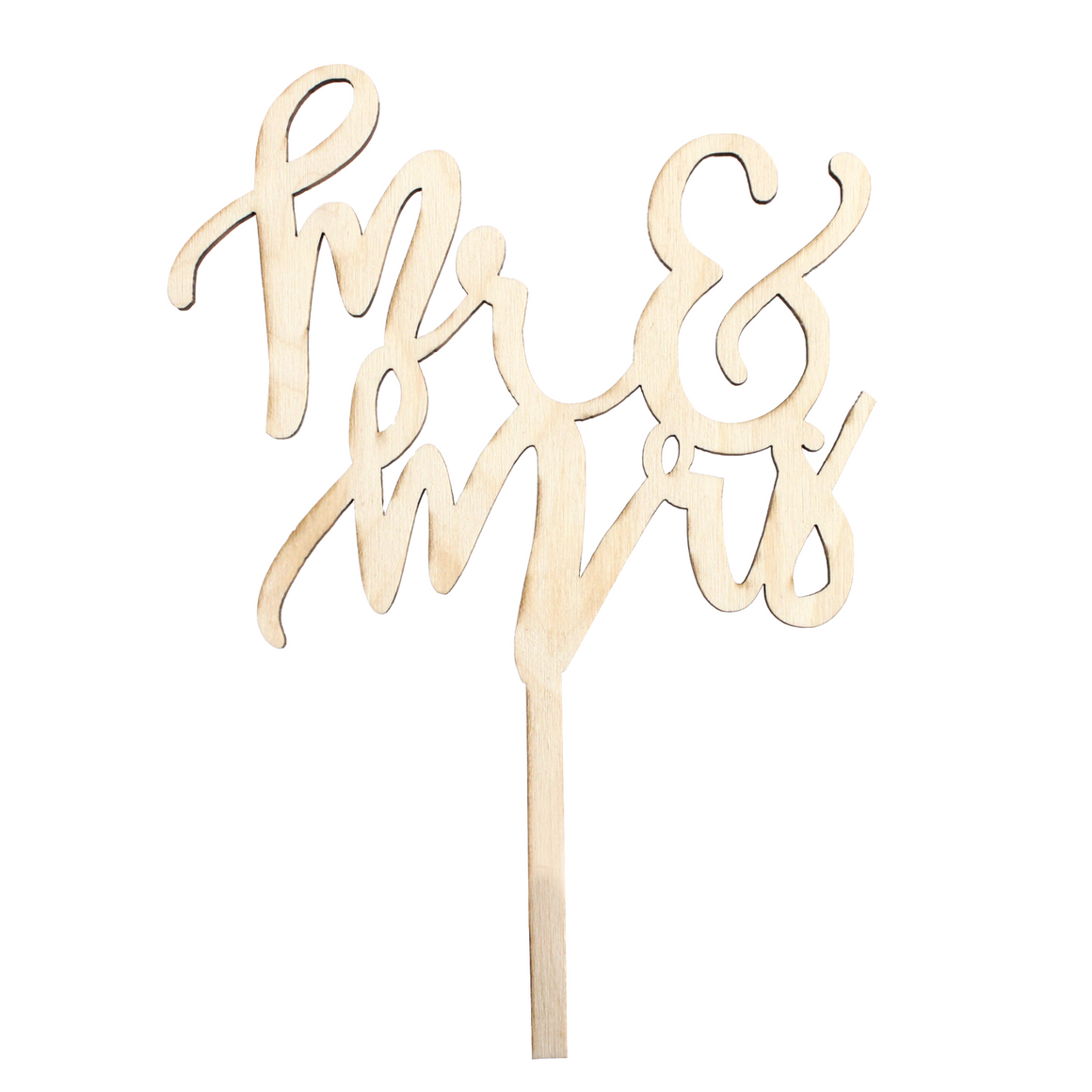 """Mr & Mrs"" Cake Topper"