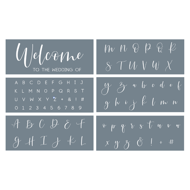 Wedding Welcome Sign Stencil Set