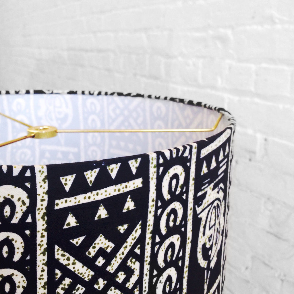 DIY Lamp Shade made with wire lampshade rings