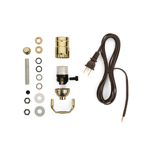 Lamp Wiring Kit [Brass + Brown]