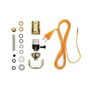 Lamp Wiring Kit [Brass + Gold]