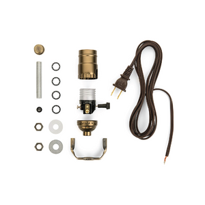 Lamp Wiring Kit [Antique Brass + Brown]