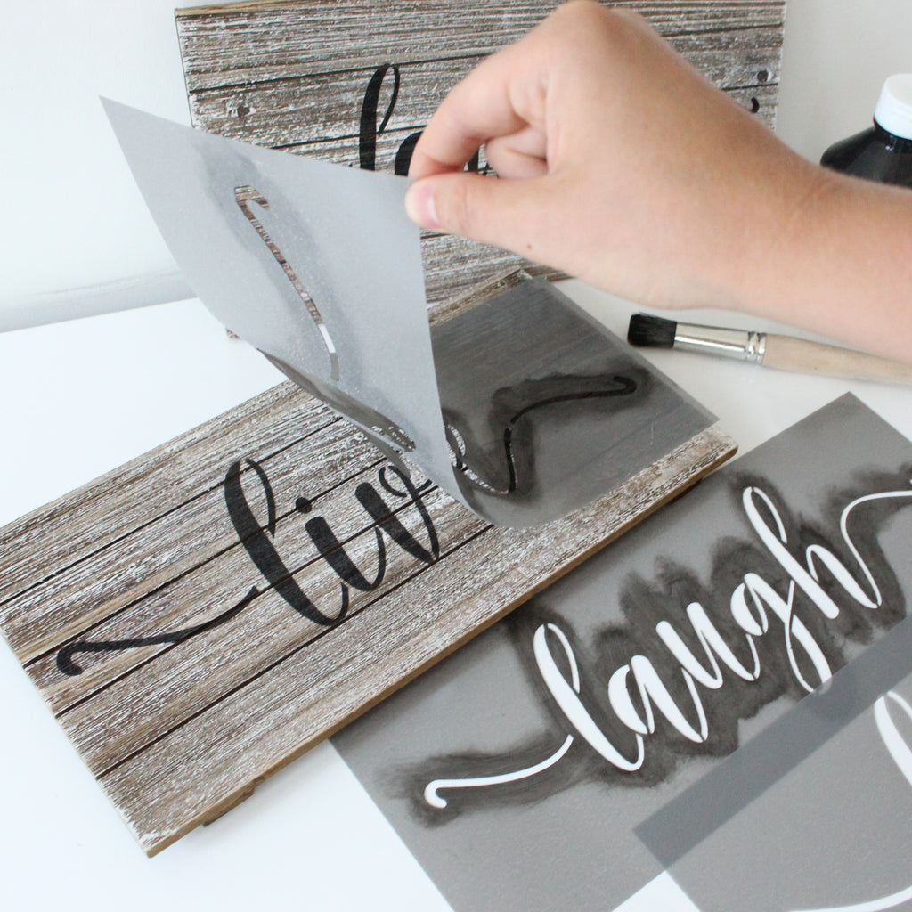 Playful Home Word Stencils