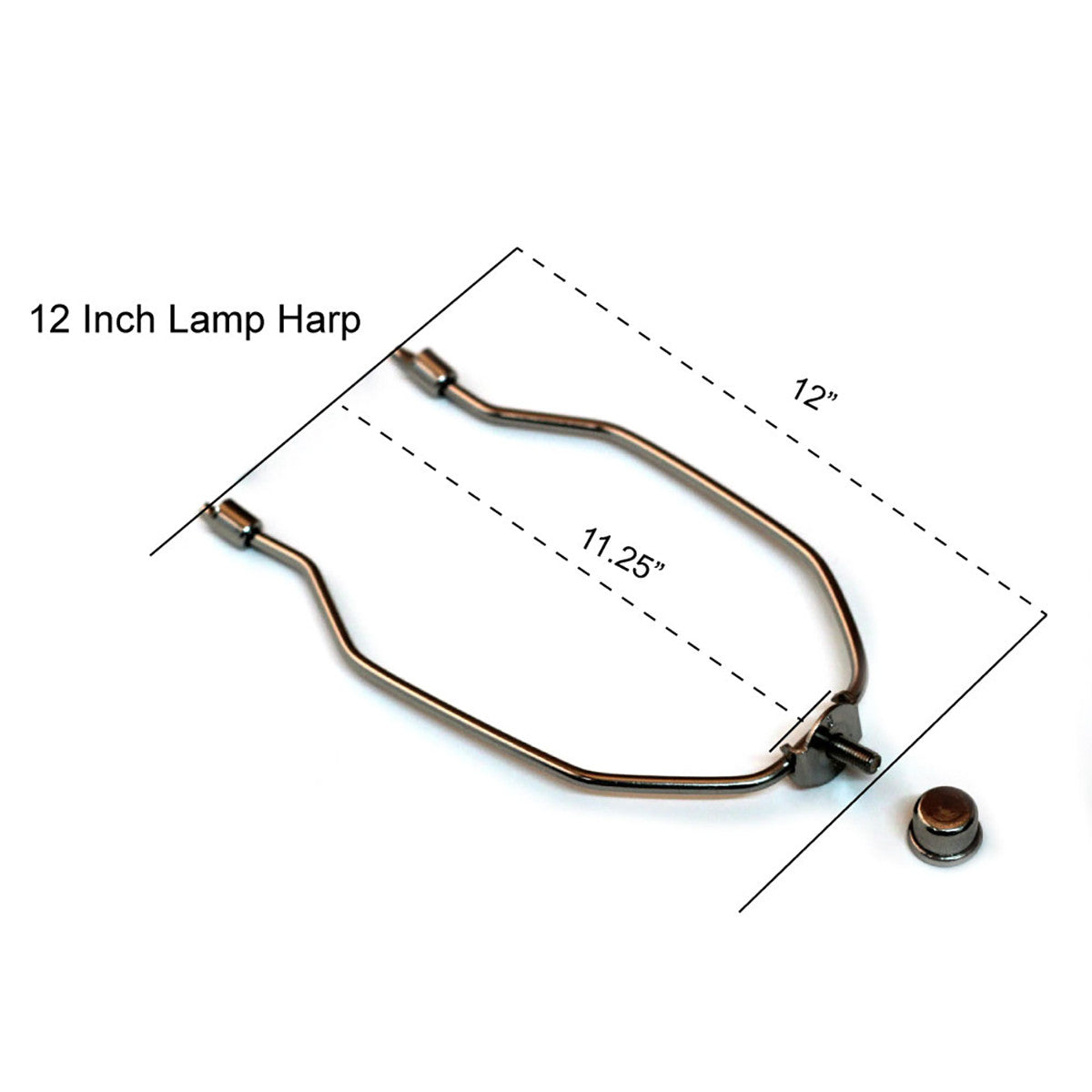 nickel-silver lamp harp kit