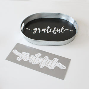 """Grateful"" + ""Thankful"" + ""Blessed"" Stencils"