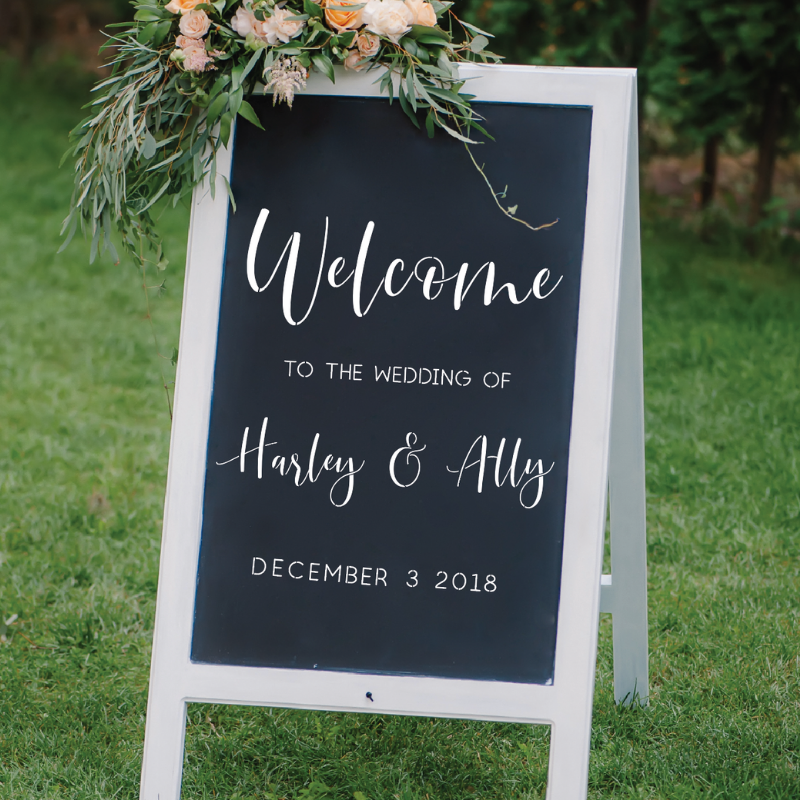 Wedding Welcome Sign Stencils