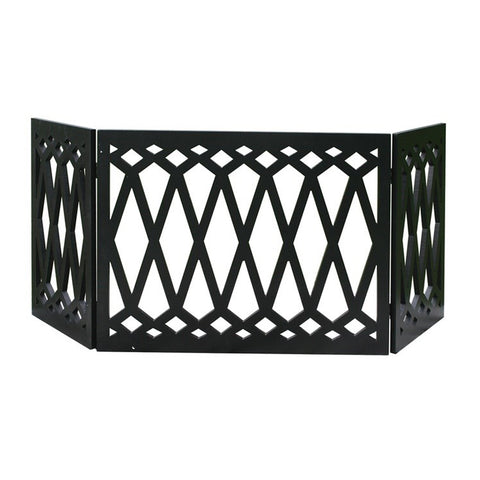 Diamond Pattern Wood Dog Gate
