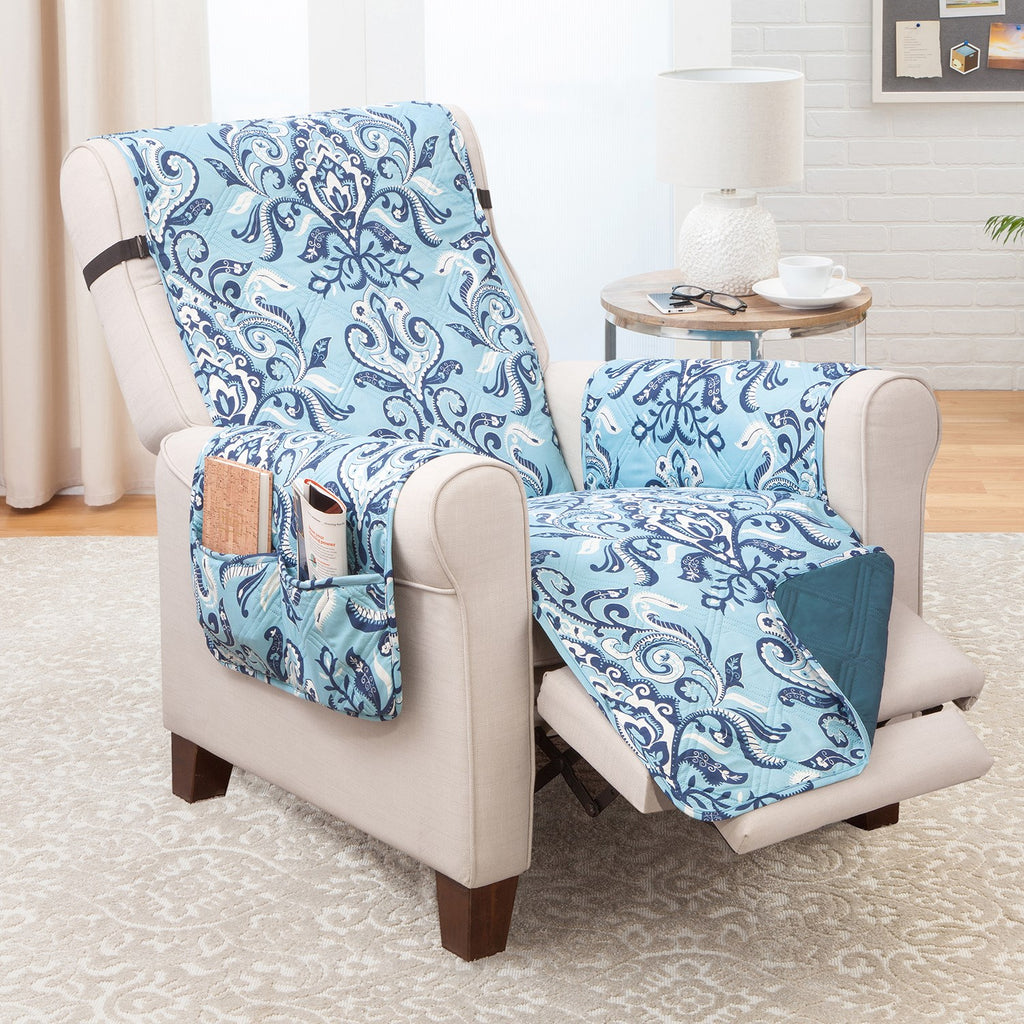 Recliner Furniture protector Jory/Blue Print