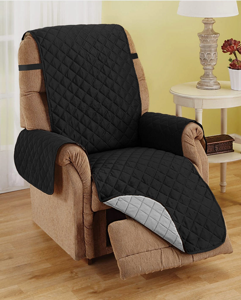Recliner Furniture Protector -  BLACK / GREY
