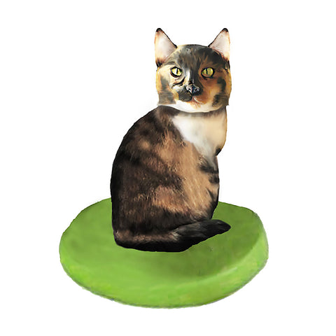 Custom Cat Bobblehead - Calico