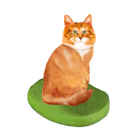 Custom Cat Bobblehead - Orange Tabby