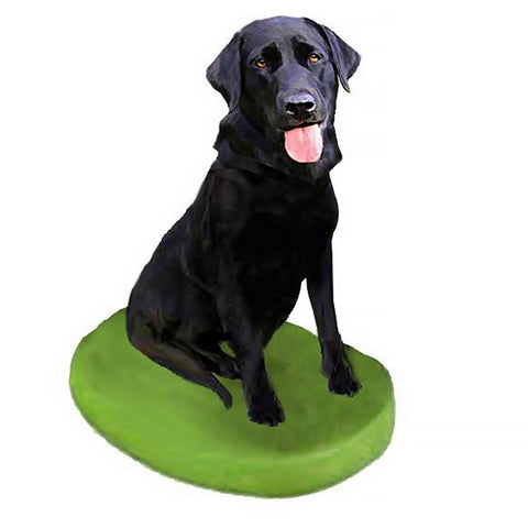 Custom Pet Dog Bobblehead - Labrador Retriever Black