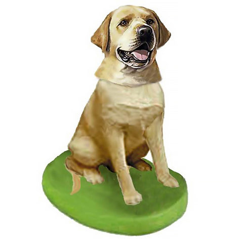 Custom Pet Dog Bobblehead - Labrador Retriever Yellow