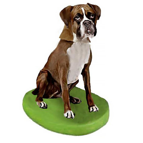 Custom Pet Dog Bobblehead - Boxer Brown