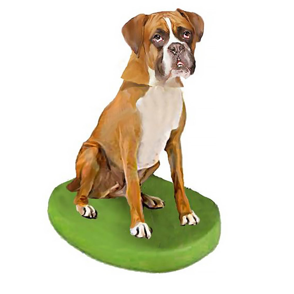 Custom Pet Dog Bobblehead - Boxer Gold