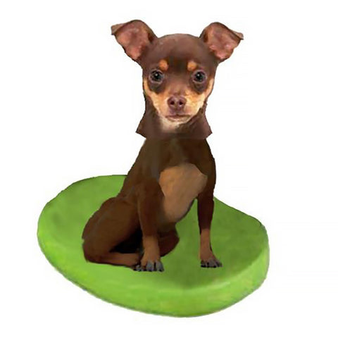 Custom Pet Dog Bobblehead - Chihuahuas Brown