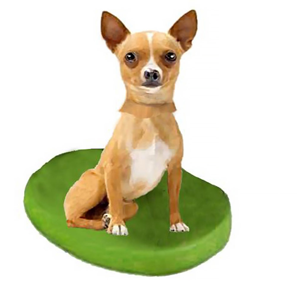 Custom Pet Dog Bobblehead - Chihuahuas Fawn