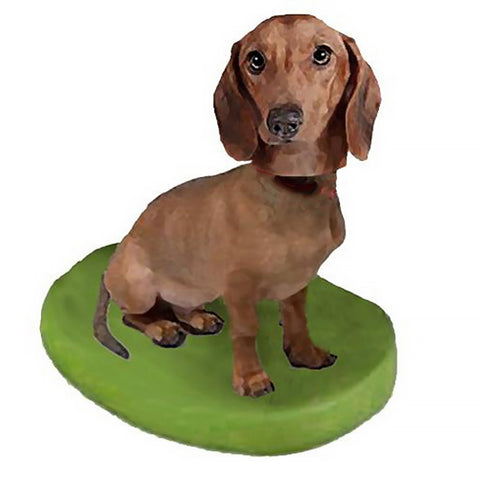 Custom Pet Dog Bobblehead - Dachshund Brown