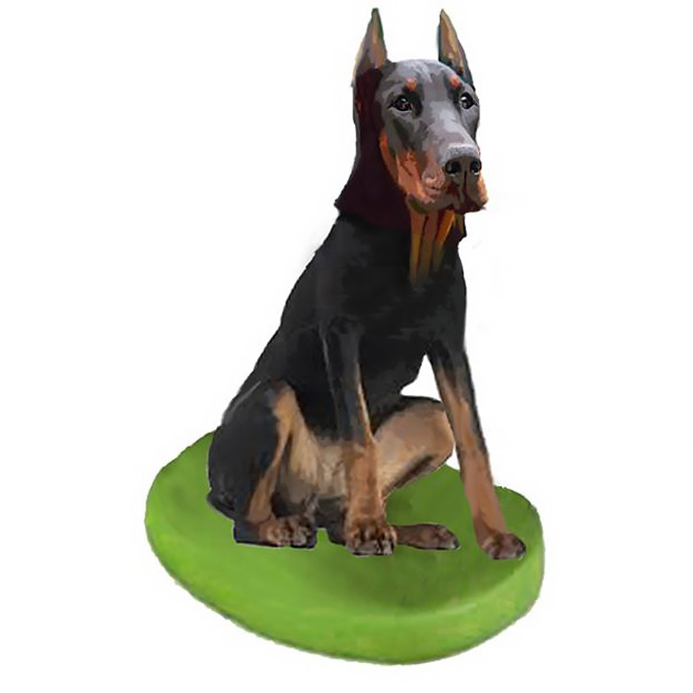 Custom Pet Dog Bobblehead - Doberman Pinscher