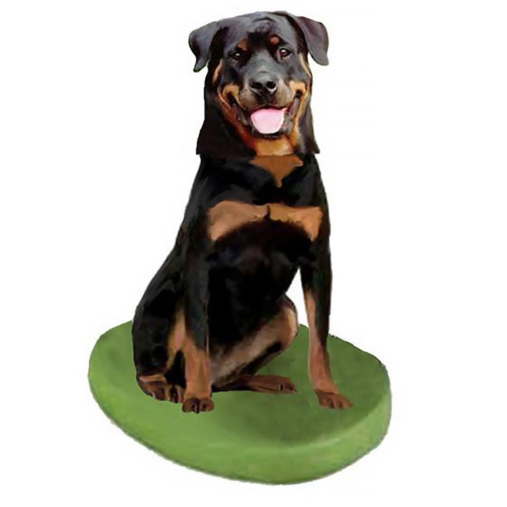 Custom Pet Dog Bobblehead - Rottweiler