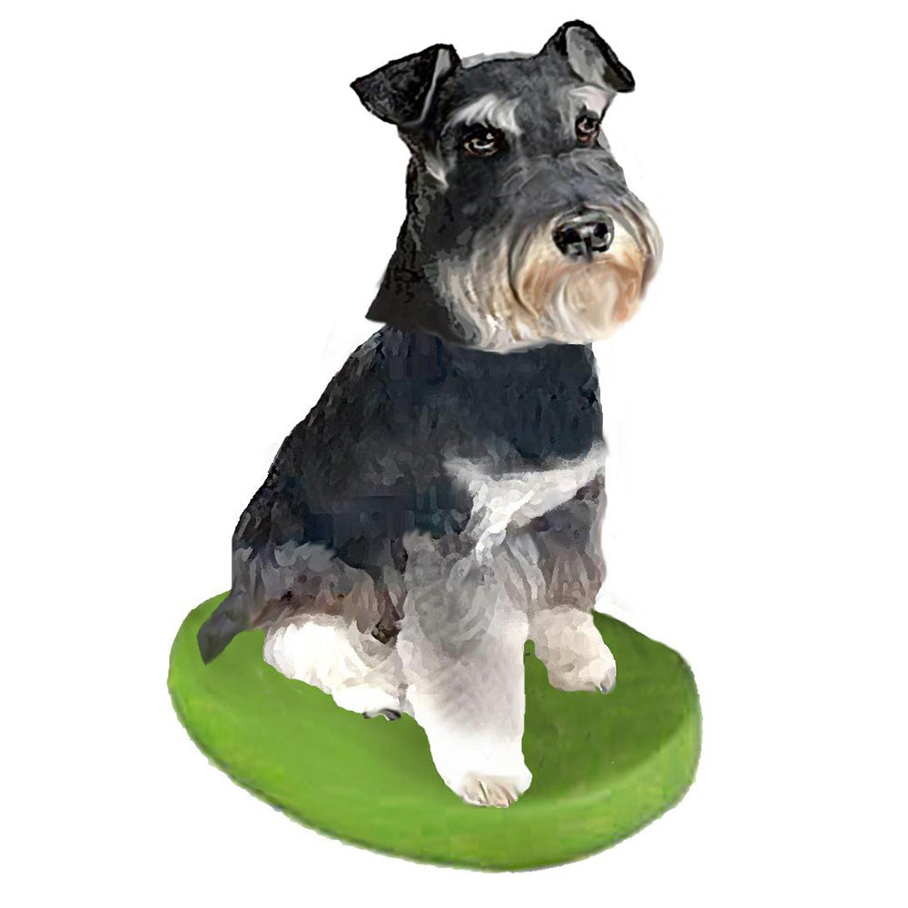 Custom Pet Dog Bobblehead - Schnauzer Mini