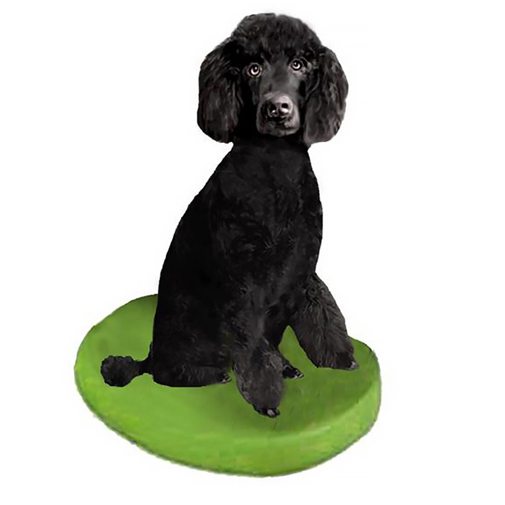 Custom Pet Dog Bobblehead - Poodle Black