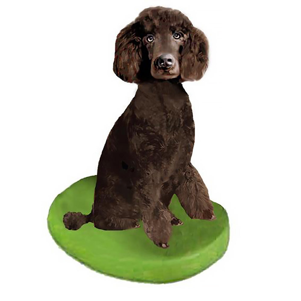 Custom Pet Dog Bobblehead - Poodle Brown