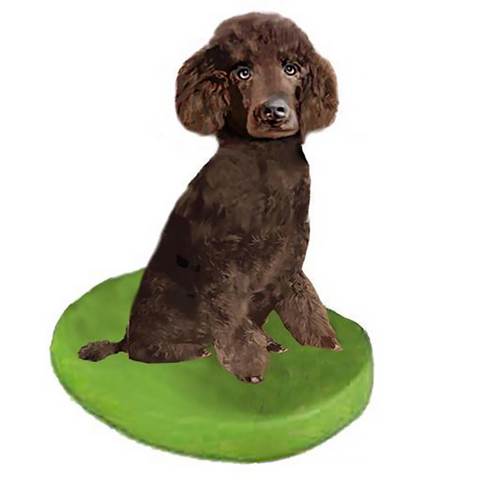 Custom Pet Dog Bobblehead - Poodle Brown Miniature