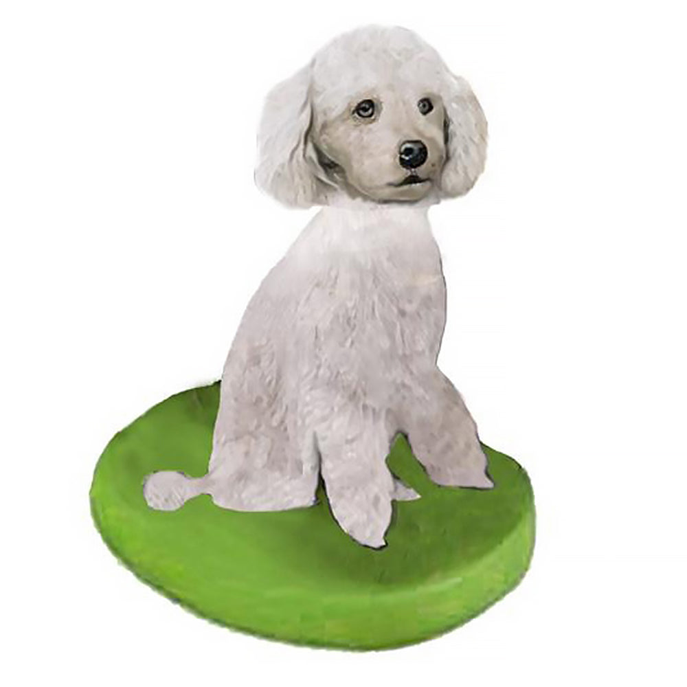 Custom Pet Dog Bobblehead - Poodle White Miniature