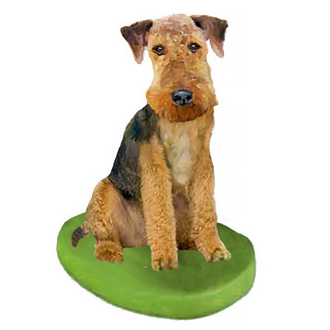 Custom Pet Dog Bobblehead - Airedale