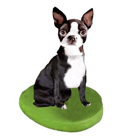 Custom Pet Dog Bobblehead - Boston Terrier
