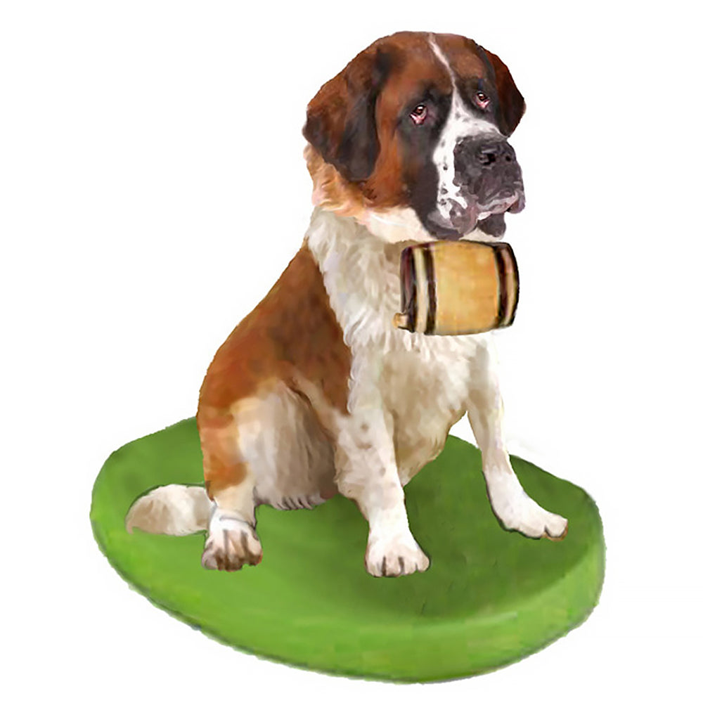 Custom Pet Dog Bobblehead - St.Bernard