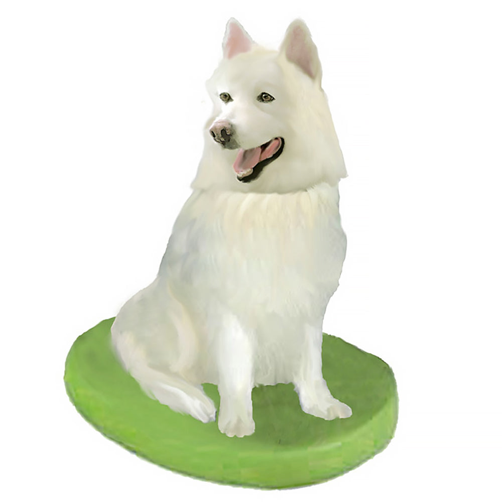 Custom Pet Dog Bobblehead - Samoyed