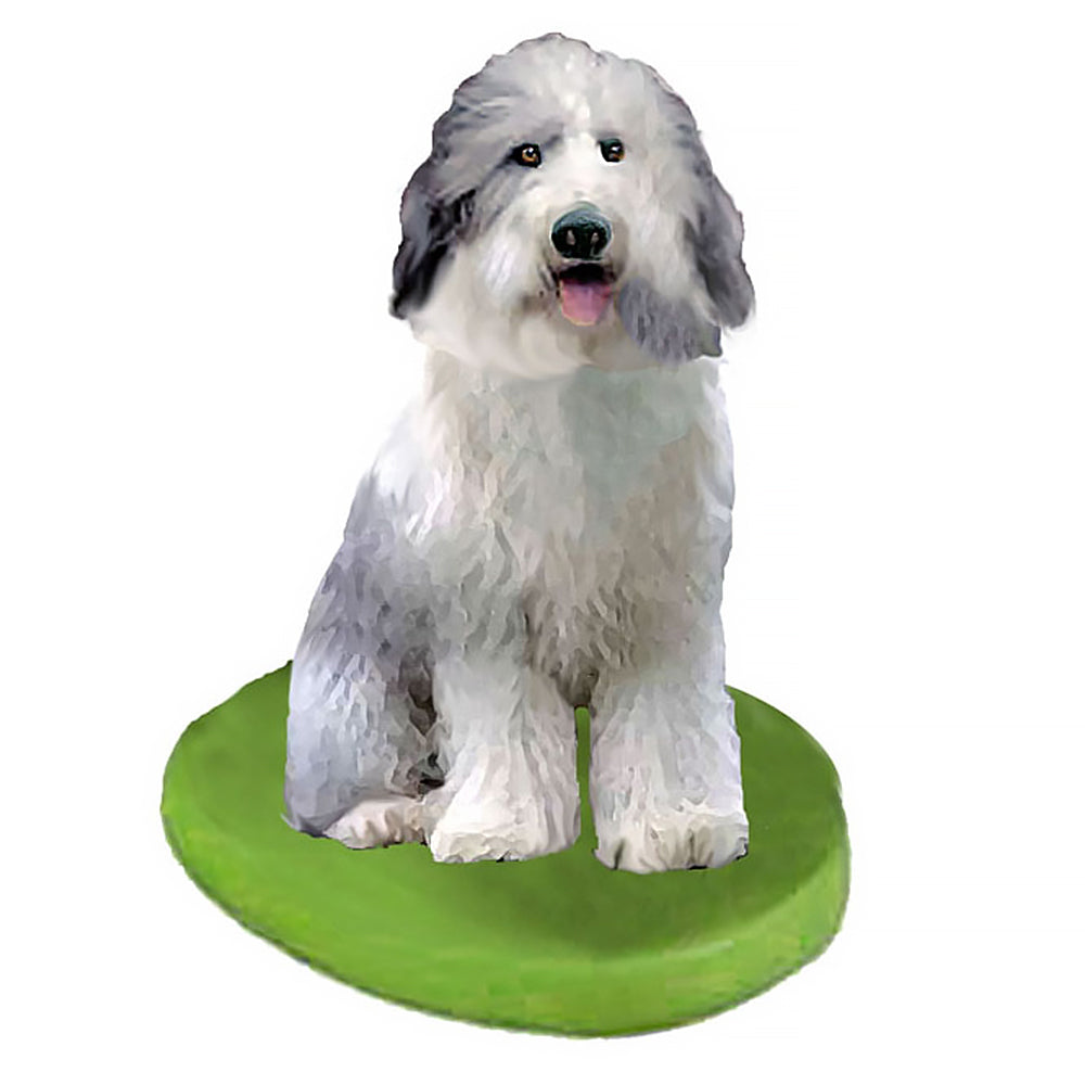 Custom Pet Dog Bobblehead - Sheep Dog