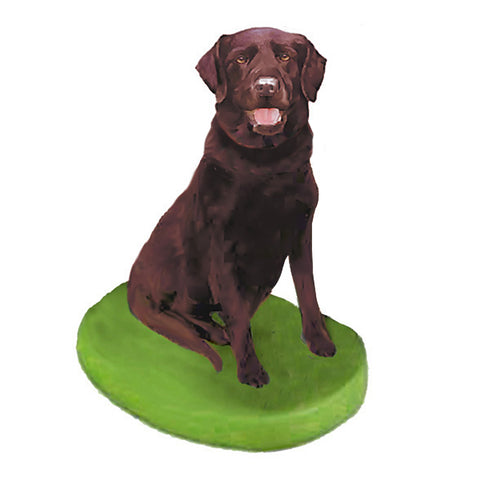 Custom Pet Dog Bobblehead - Chocolate Lab