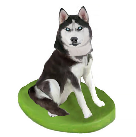 Custom Pet Dog Bobblehead - Husky