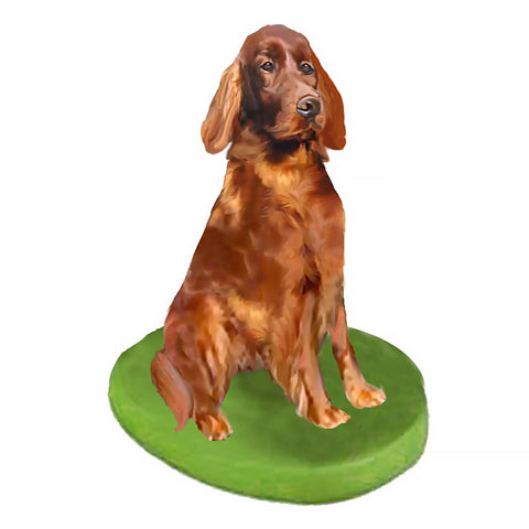 Custom Pet Dog Bobblehead - Irish Setter