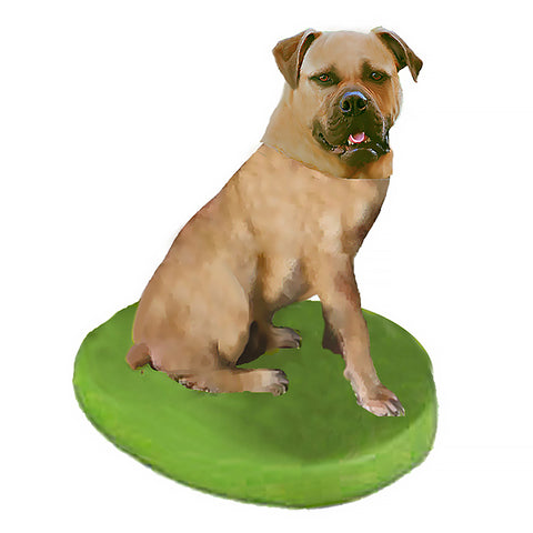Custom Pet Dog Bobblehead - Bull Mastiff Yellow Fawn